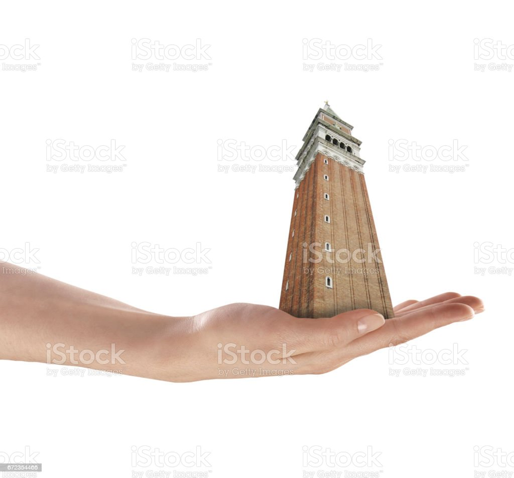 holding public San Marco tower stock photo