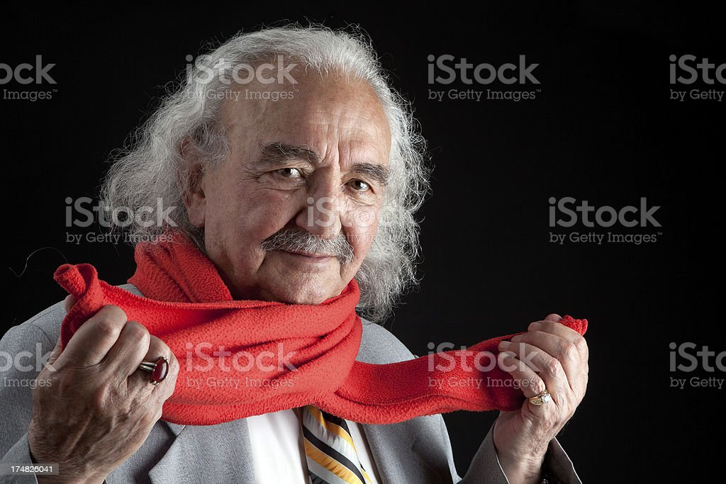 Holding scarf royalty-free stock photo