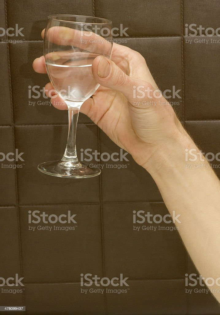 Holding Some Water royalty-free stock photo