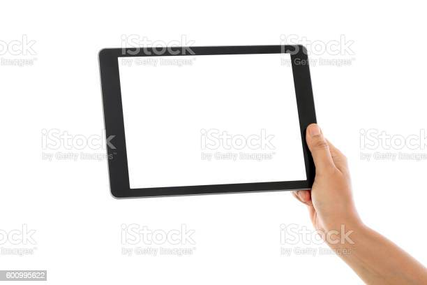 Holding tablet computer against white background picture id600995622?b=1&k=6&m=600995622&s=612x612&h=wttdcrbtjz gmzehv58awkdbxbszlwt3n rrhap aia=