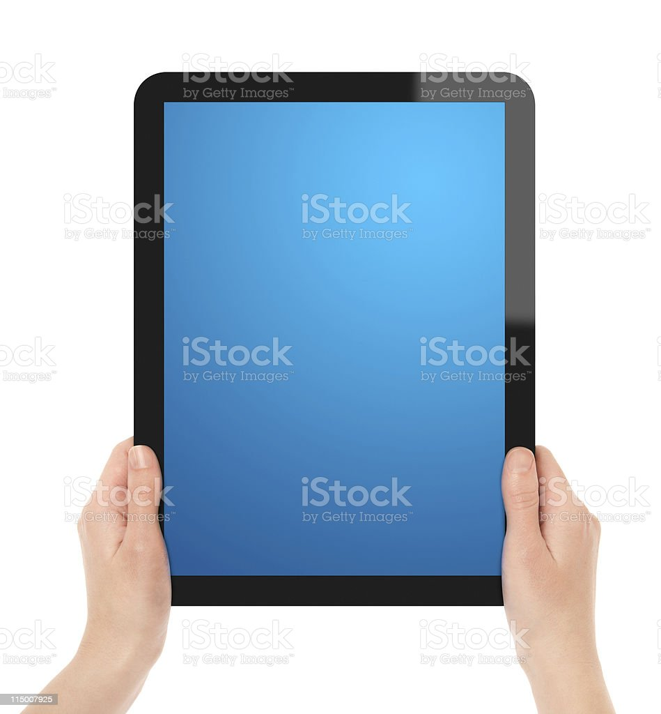 Holding Tablet PC royalty-free stock photo