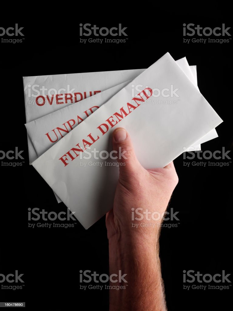 Holding The Bills royalty-free stock photo
