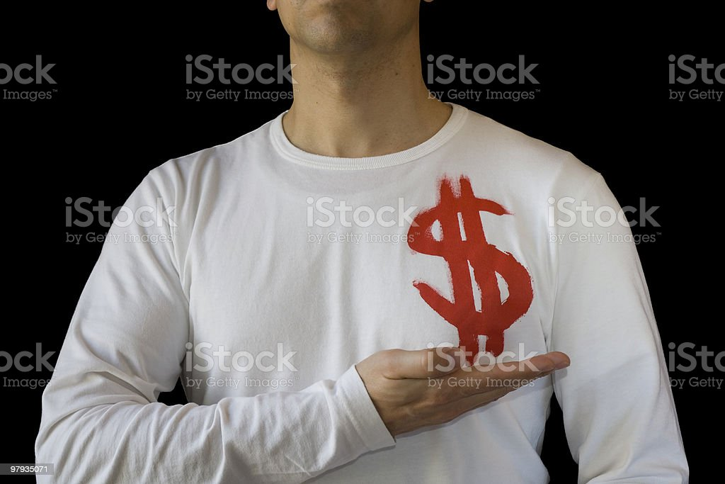 Holding the dollar royalty-free stock photo