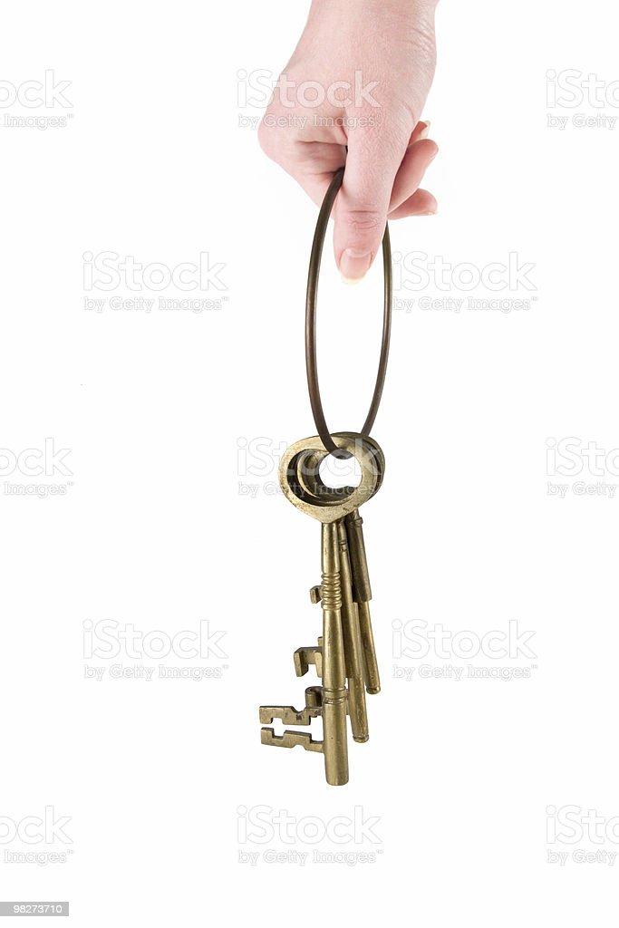 Holding the Keys royalty-free stock photo