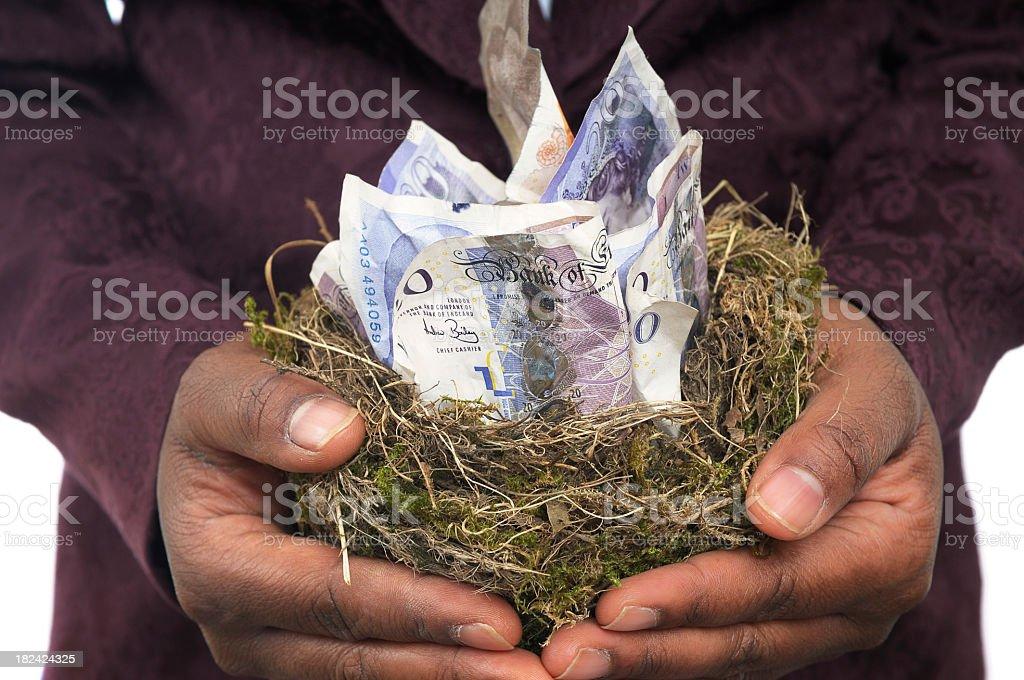 Holding the Nest Egg royalty-free stock photo