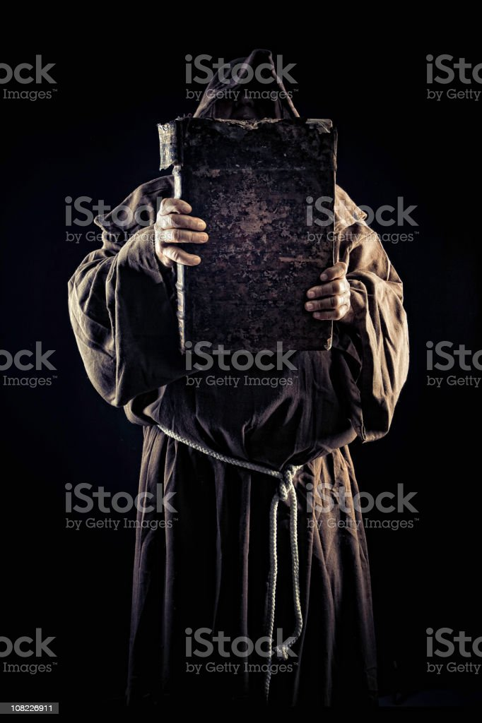 holding the truth royalty-free stock photo