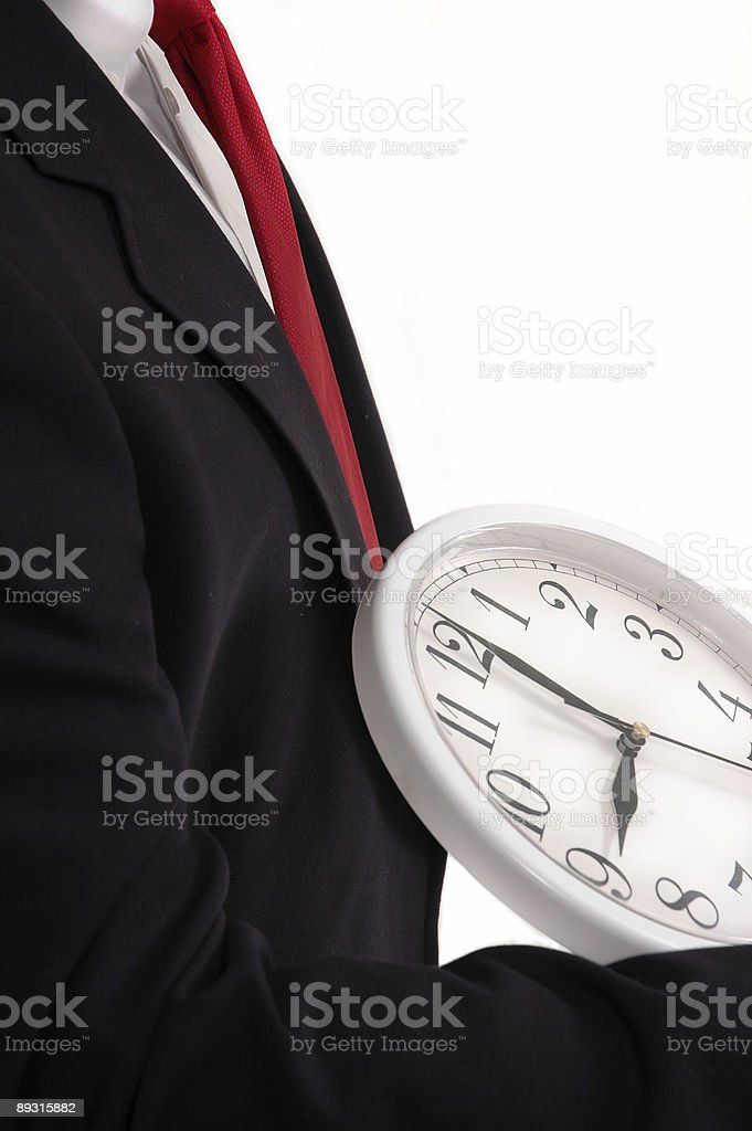 Holding Time - Corporate Style royalty-free stock photo