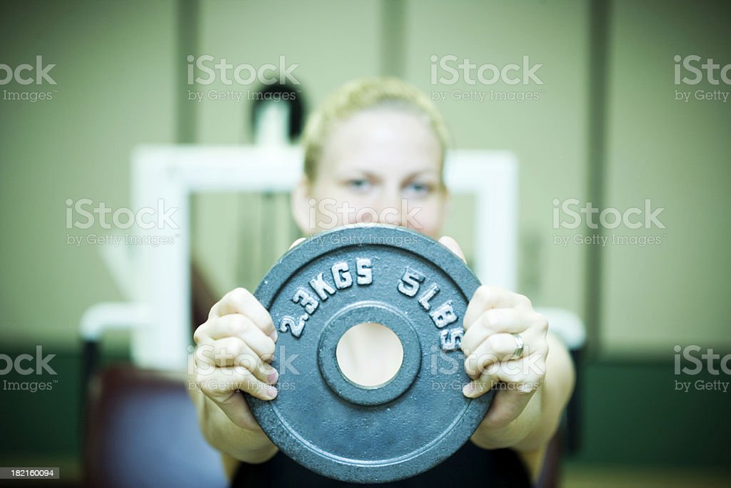 Holding Weight royalty-free stock photo