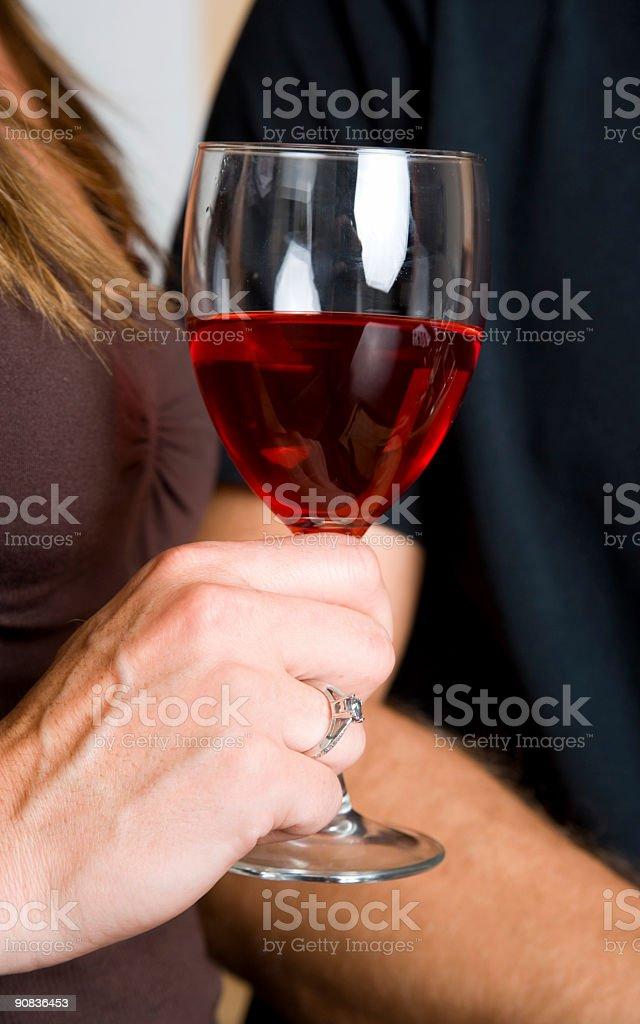 Holding Wine royalty-free stock photo