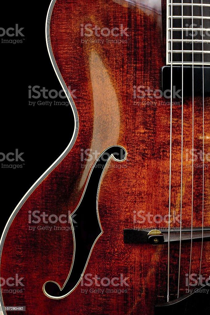 F Hole Guitar stock photo