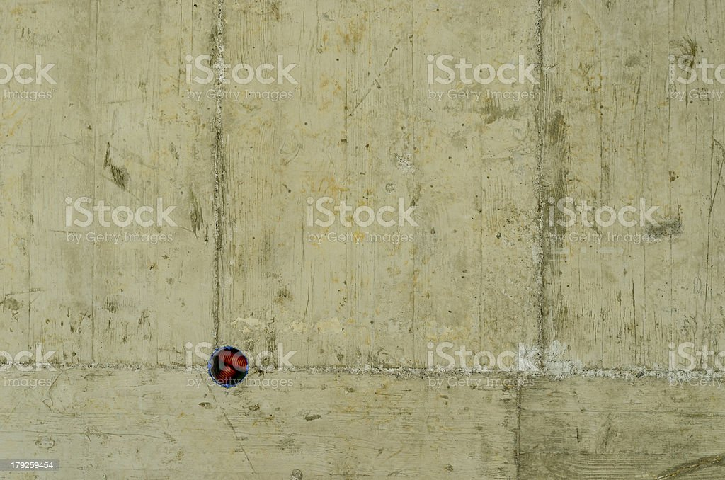 Hole in concrete ceiling royalty-free stock photo