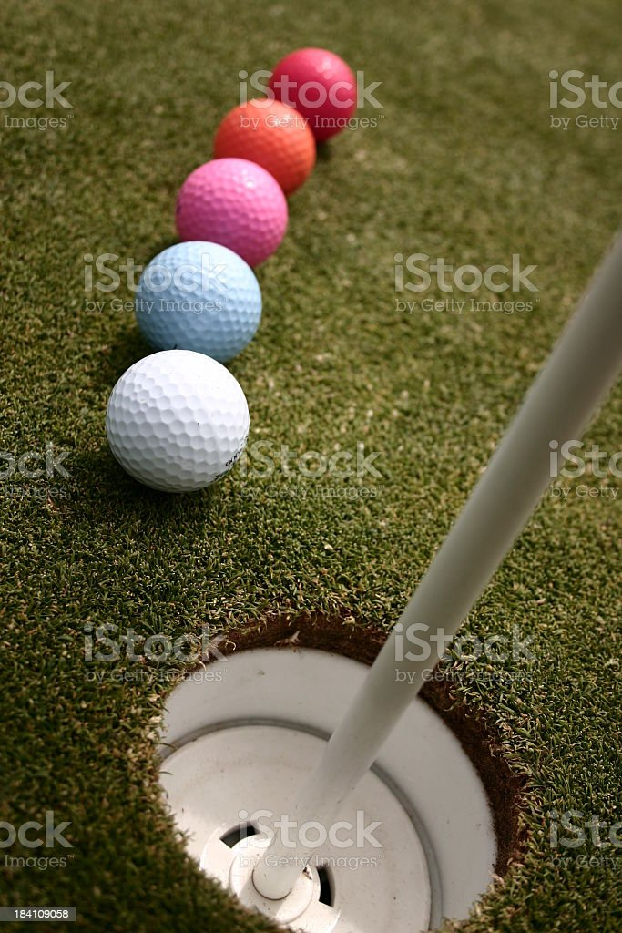 Hole In Five. royalty-free stock photo
