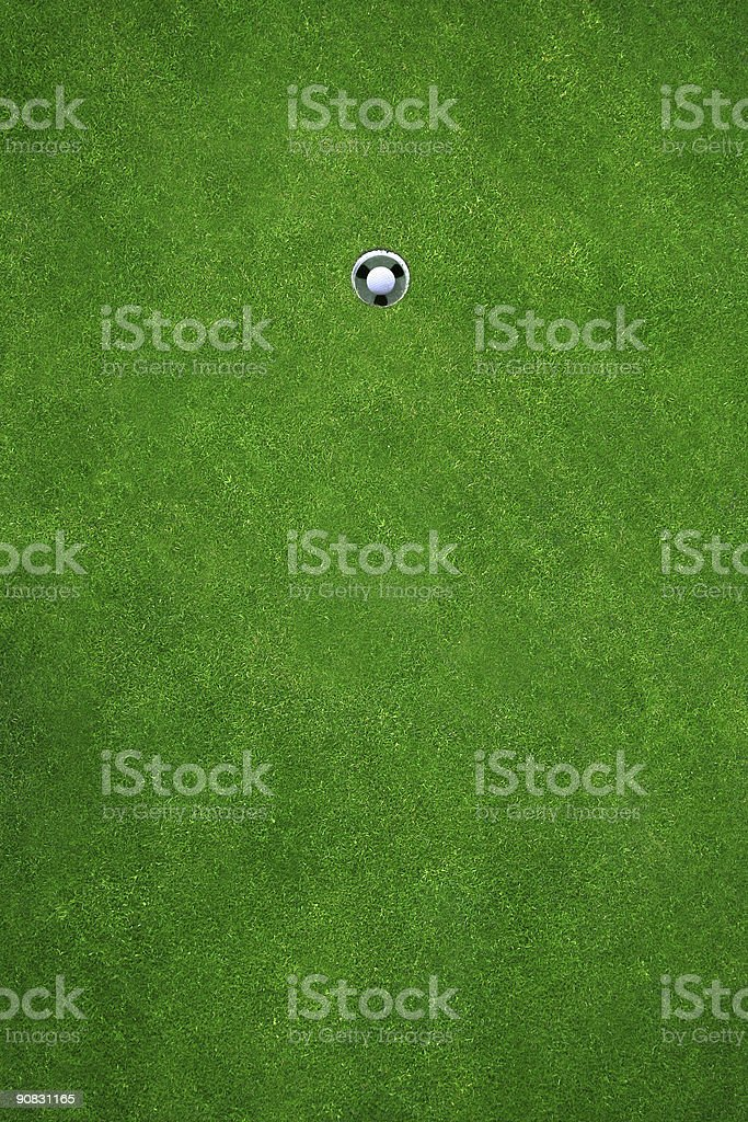 Hole in one stock photo