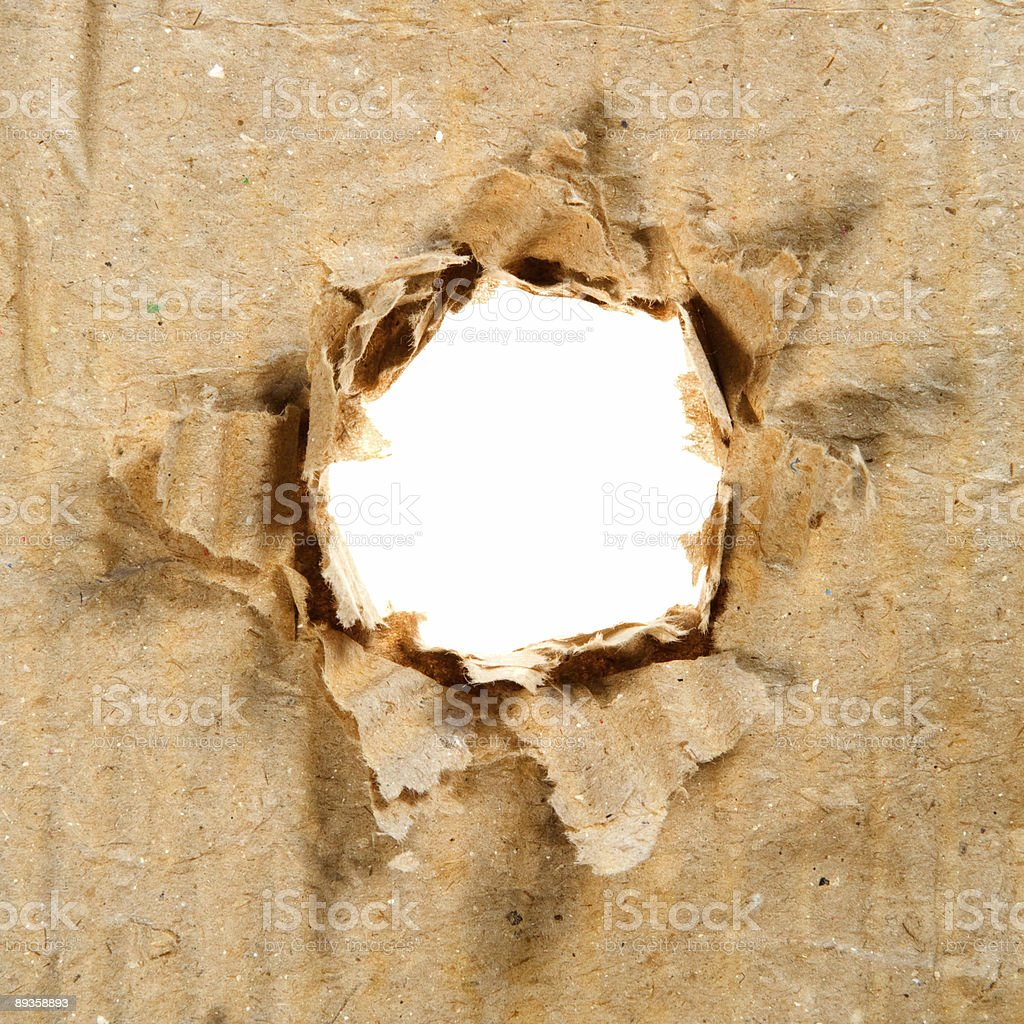 Hole in Paper royalty-free stock photo