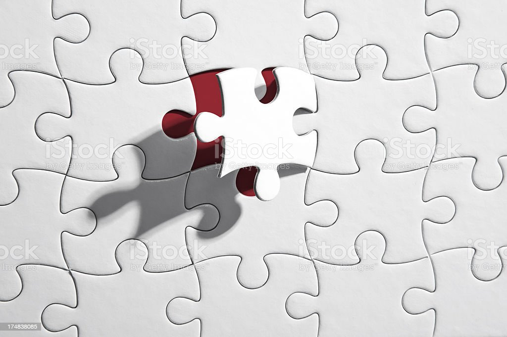 Hole In The Jigsaw Puzzle royalty-free stock photo