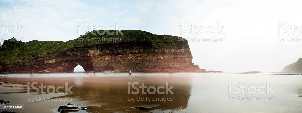 Hole in the wall in Transkei stock photo