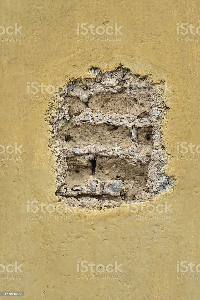 A hole in a wall of plaster with space for copy. Taken in Santa Fe,...