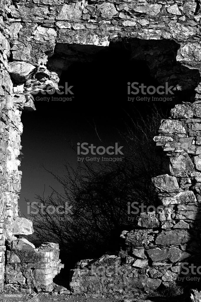 buco nel muro stock photo