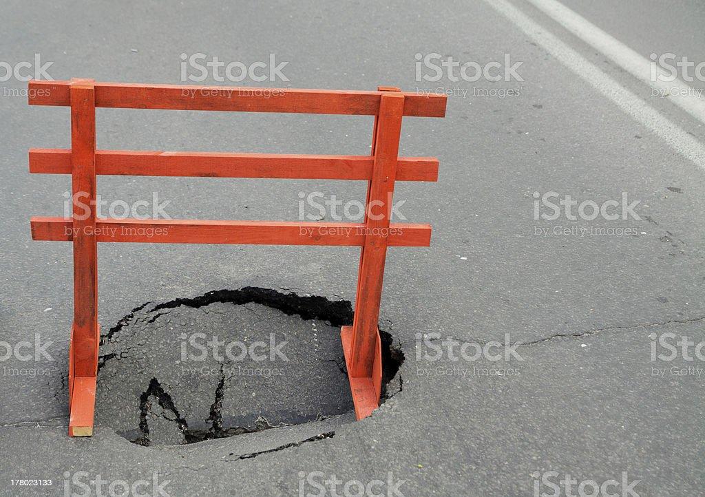 Hole royalty-free stock photo