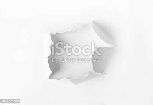 istock Hole punched in the paper 505274468