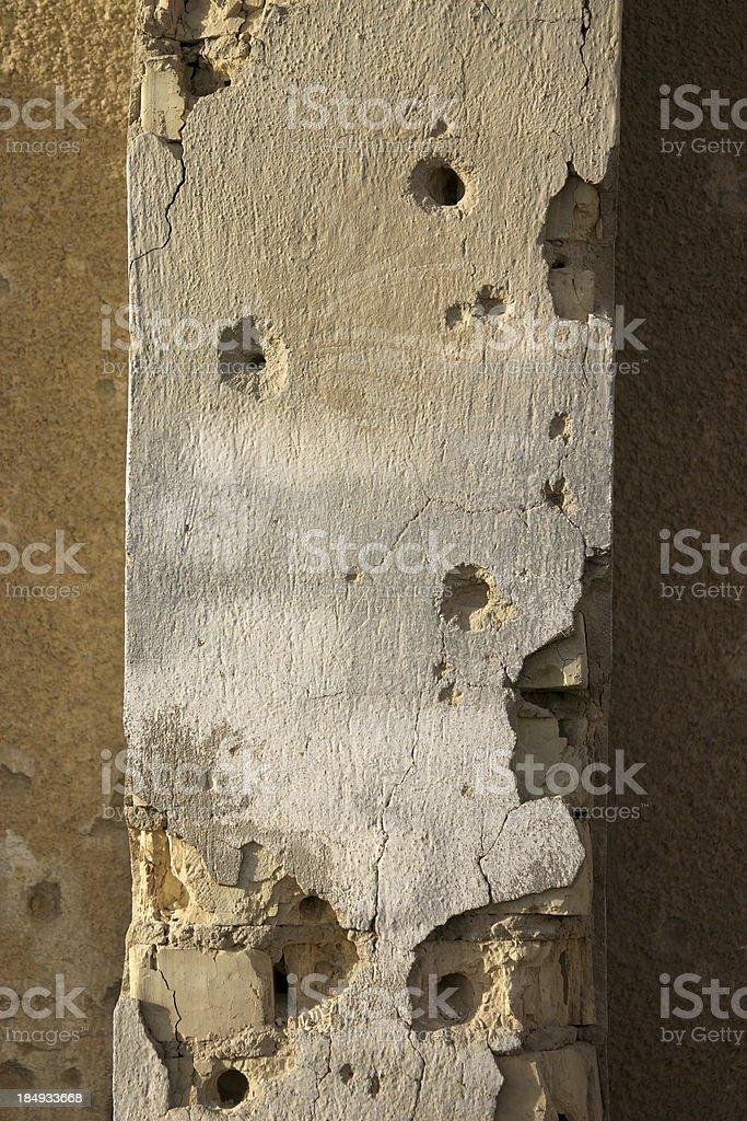 Holed Wall royalty-free stock photo