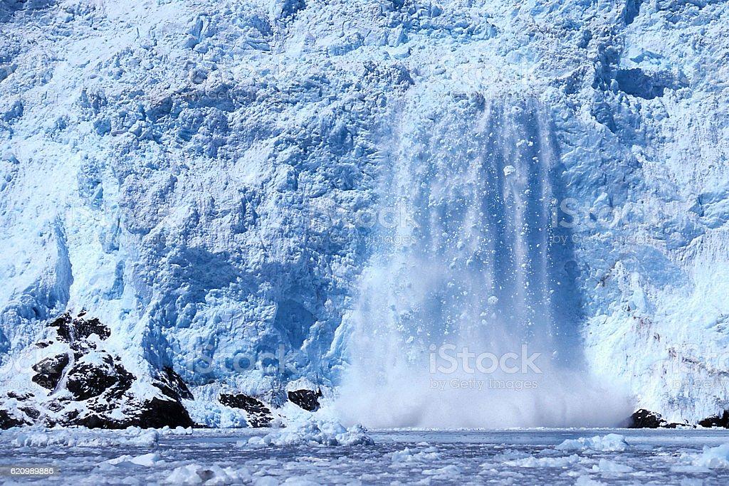 Holgate Glacier calving foto royalty-free