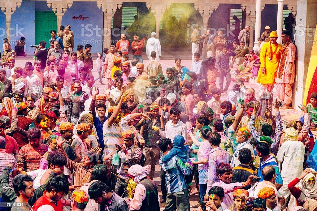 Holi Celebration in India stock photo