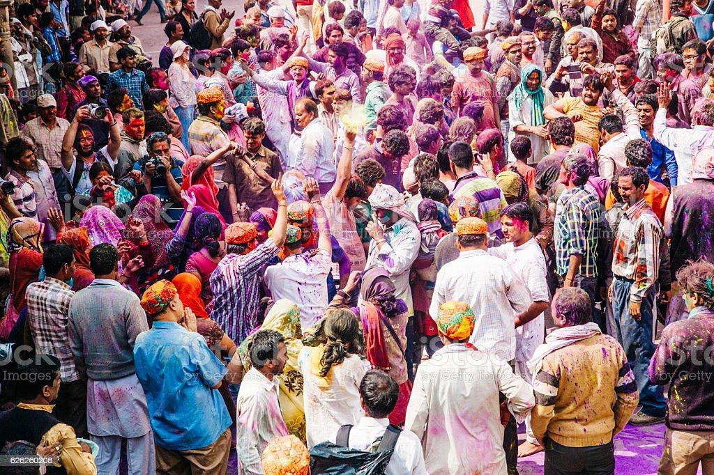 Holi Festival celebration stock photo
