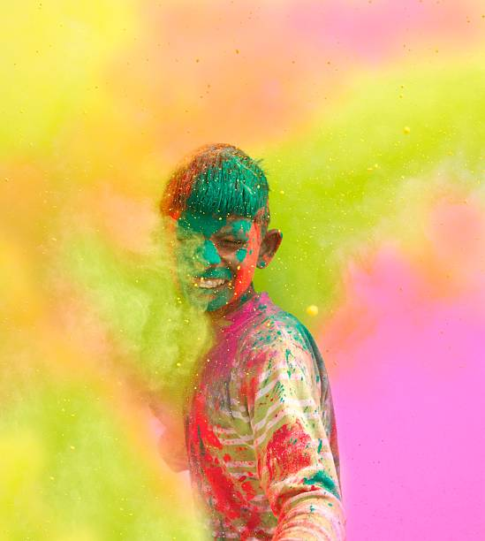Célébrations festival de Holi en Inde. - Photo