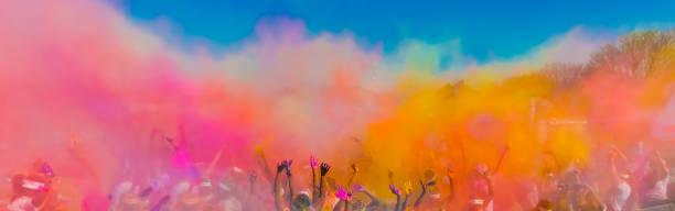 holi festival dahan - traditioneel festival stockfoto's en -beelden