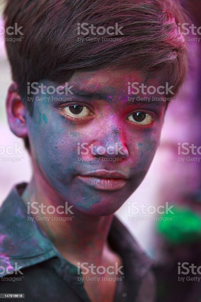 Holi festival in India royalty-free stock photo