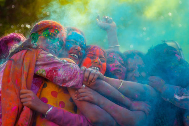Holi festival in India stock photo