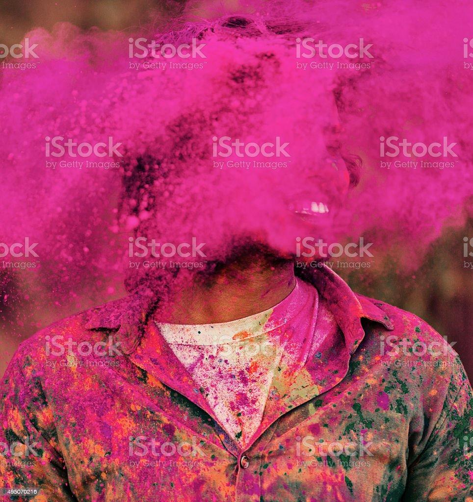 Holi Festival India stock photo