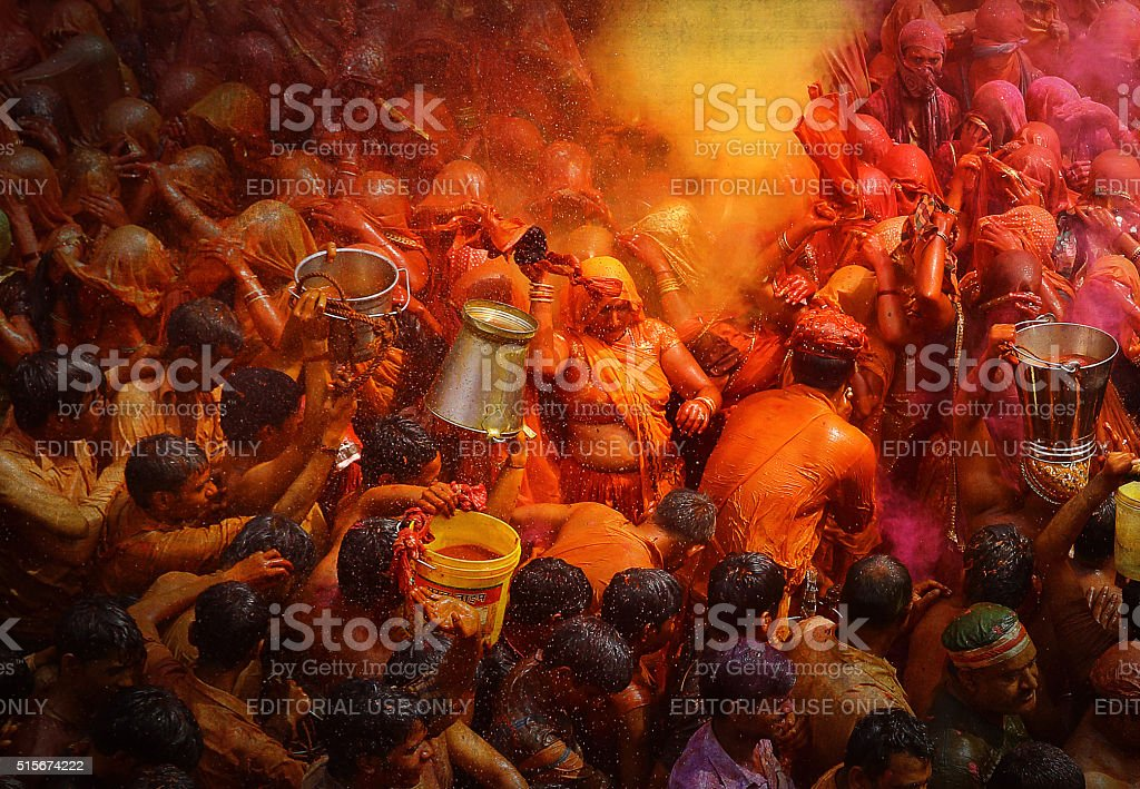 Holi - Festival of Color, India stock photo