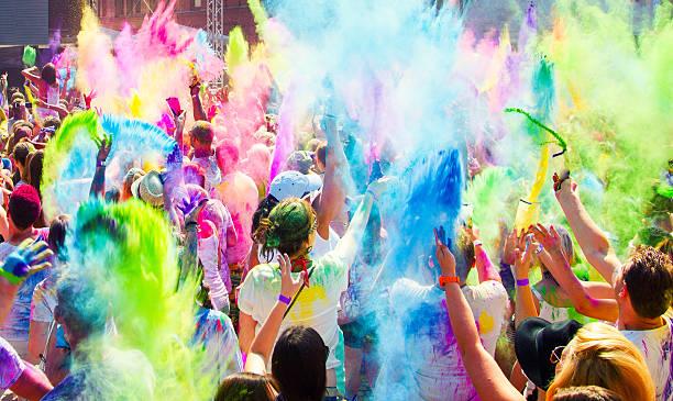 Holi Festival de couleurs. - Photo
