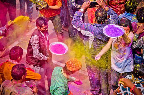 Holi Festival Personen, Indien – Foto