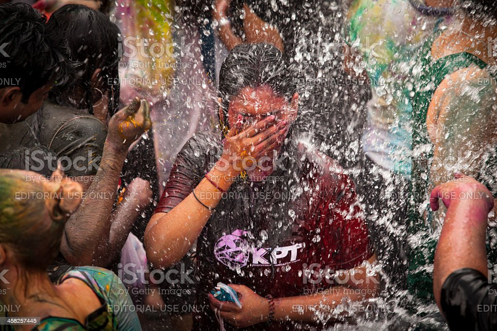 Holi Hindu Festival Colors and arrival of spring royalty-free stock photo