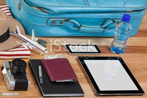 istock Holiday and tourism conceptual image with travel accessories 638900794