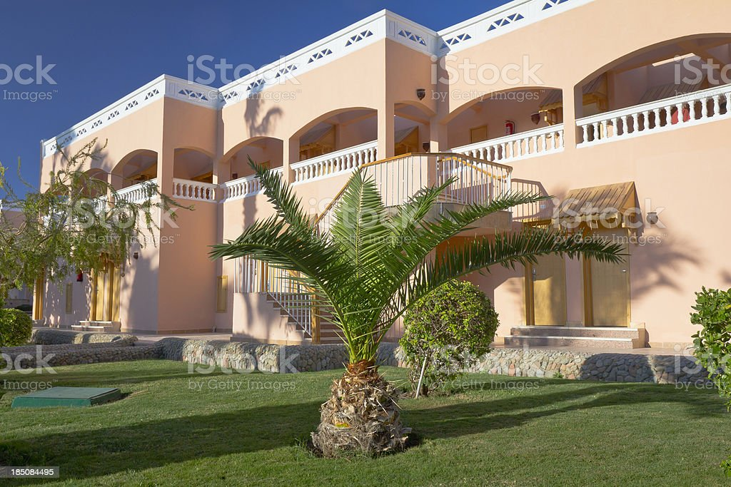 Holiday Apartment House in tropics royalty-free stock photo