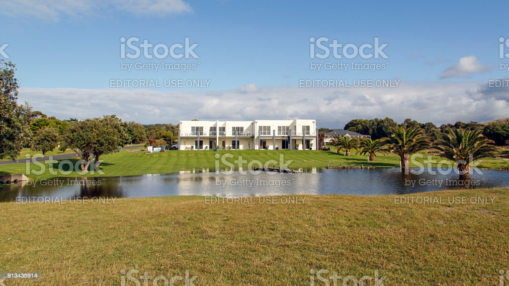Holiday Apartments on the Great Ocean Road stock photo