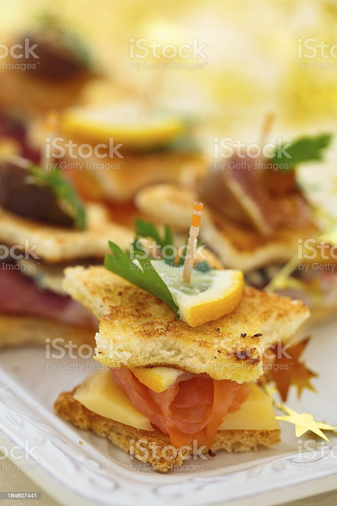 Holiday Appetizers. royalty-free stock photo