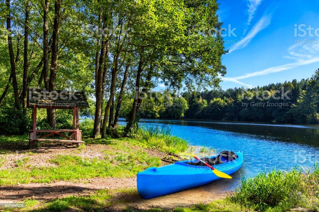 Holiday at Krutynia river in Masuria land, Poland