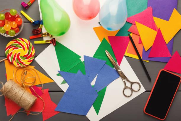 diy urlaub hintergrund, geburtstag partydekoration - do it yourself invitations stock-fotos und bilder
