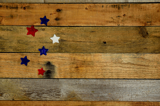Usa Holiday Background On Rustic Pallet Wood Stock Photo ...