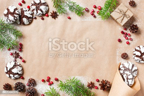 istock Holiday background with decoration 862066370
