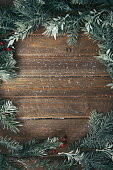 holiday background with fir branches