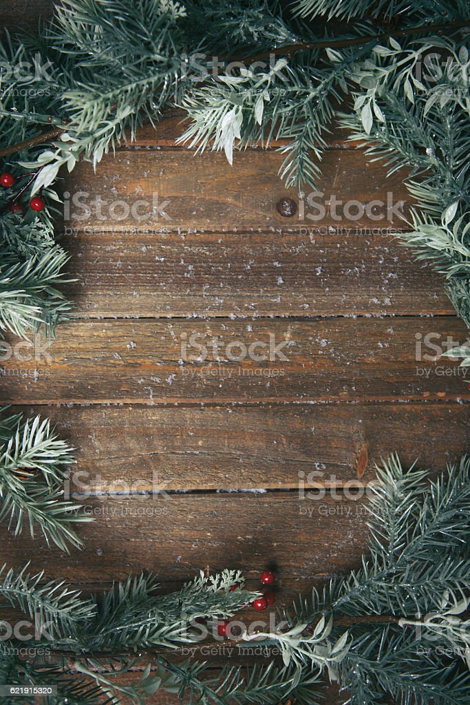 holiday background with fir branches - foto de stock
