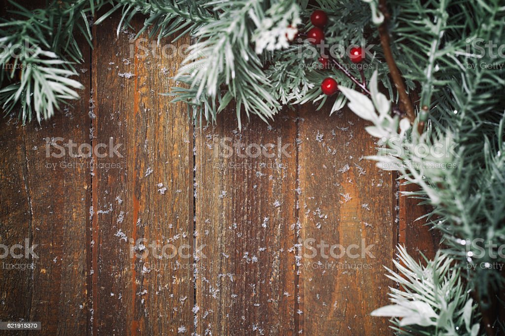 holiday background with fir branches stock photo