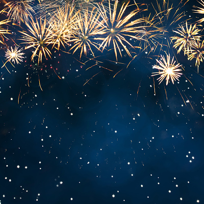 Holiday Background With Fireworks Stock Photo - Download Image Now
