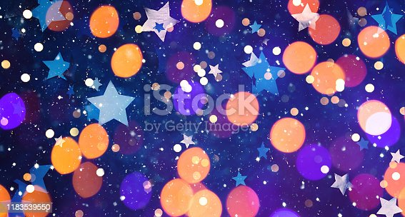 istock Holiday background With Multicolored Bokeh 1183539550